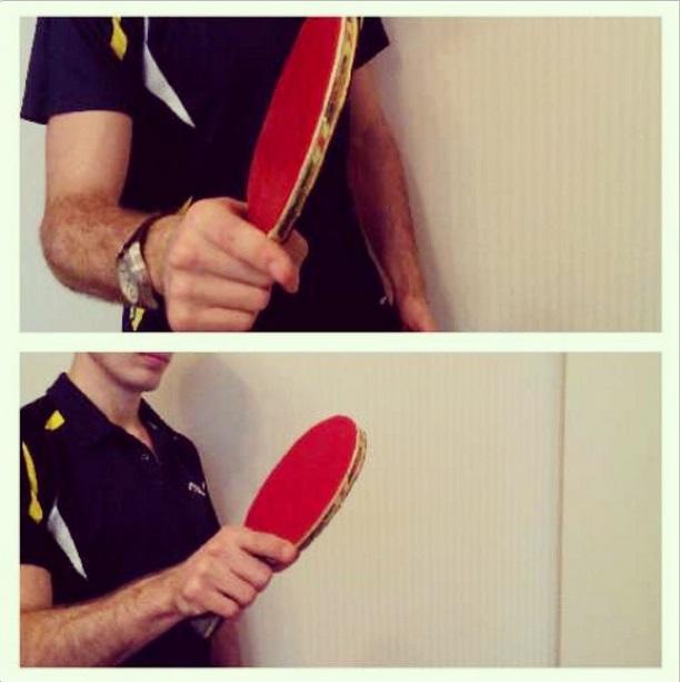 Настольный теннис защита. Угол ракетки при ударе подставкой