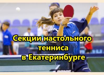 Настольный теннис в Екатеринбурге