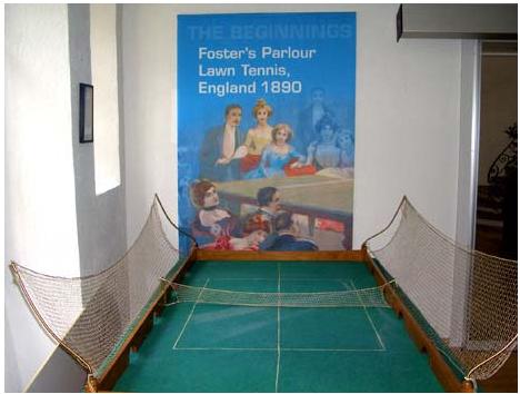 Первый стол для настольного тенниса