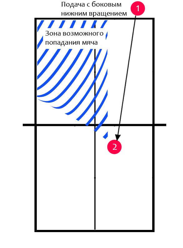 Тактика настольного тенниса! Зона попадания мяча после атаки